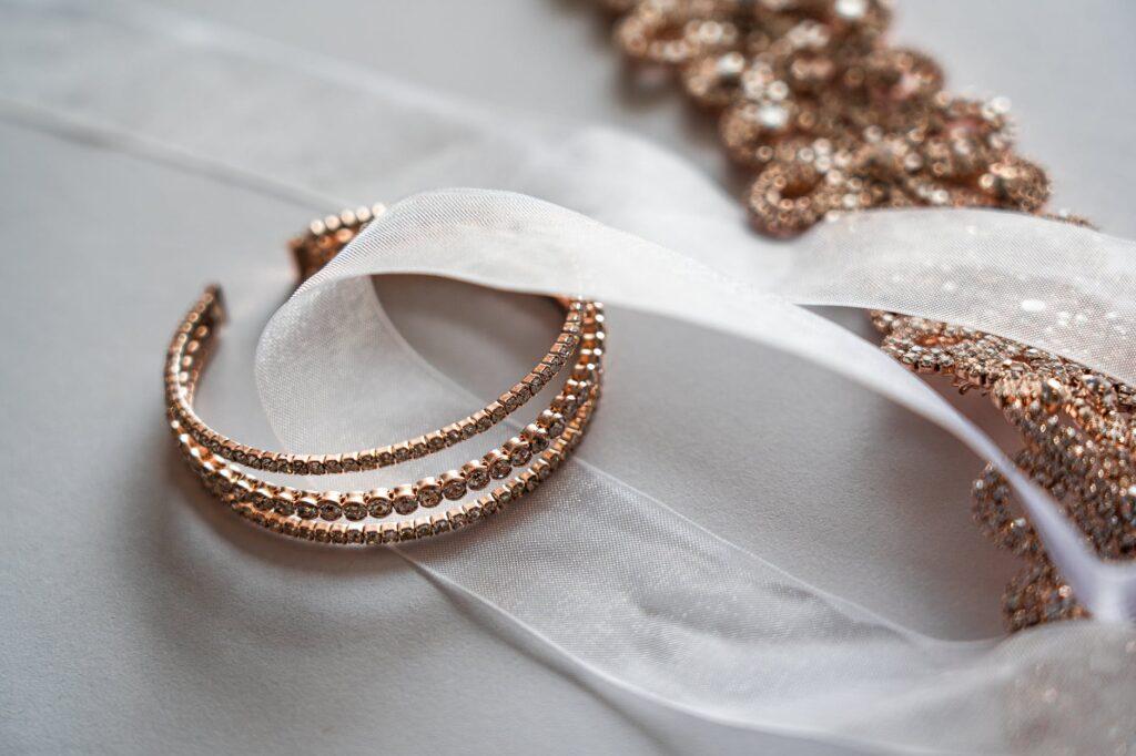 bransoletka damska różowe złoto